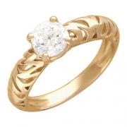 Золотое кольцо с вставкой фианит