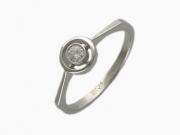 Золотое кольцо с вставкой бриллиант