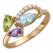 Золотое кольцо с вставкой аметист