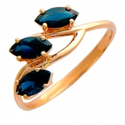Золотое кольцо с вставкой изумруд