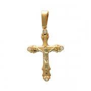 Золотая подвеска с вставкой бриллиант