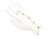 Золотой браслет с вставкой бриллиант