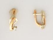 Золотые серьги с вставкой бриллиант