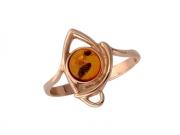 Золотое кольцо с вставкой янтарь