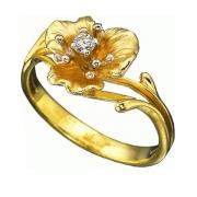 Золотое кольцо Aldzena с бриллиантом
