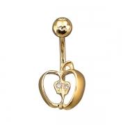 Золотой пирсинг Aldzena с бриллиантами