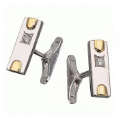 Золотые запонки Aldzena с бриллиантами