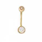 Золотой пирсинг с вставкой бриллиант