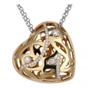Золотое колье с вставкой бриллиант
