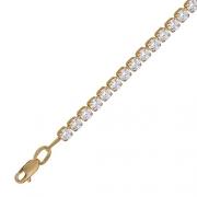 Золотой браслет с вставкой фианит