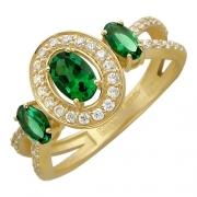 Золотое кольцо с вставкой гранат