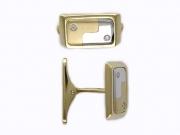 Золотые запонки с вставкой бриллиант