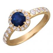 Золотое кольцо с вставкой рубин