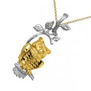 Золотой кулон Aldzena с бриллиантами