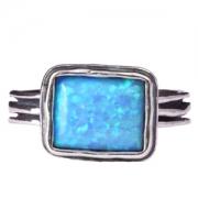 Серебряное кольцо Shablool с иск. опалом