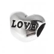 Серебряный шарм любовь