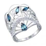 Серебряное кольцо SOKOLOV с топазом