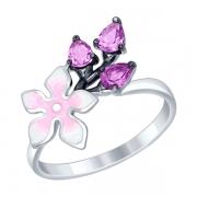 Серебряное кольцо SOKOLOV с эмалью