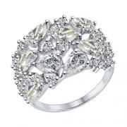 Серебряное кольцо SOKOLOV с фианитами