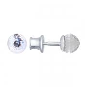 Серебряные серьги с кристаллом Сваровски