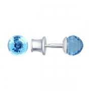 Серебряные серьги с кристаллами Swarowski