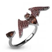 Серебряное кольцо Sandara с раухтопазом и фианитами