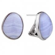 Серебряные серьги Sandara c голубым агатом
