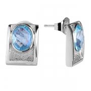Серебряные серьги Sandara с голубым топазом