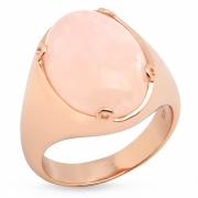 Серебряное кольцо Sandara c морганитом и позолотой