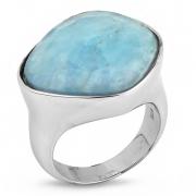 Серебряное кольцо Sandara c аквамарином
