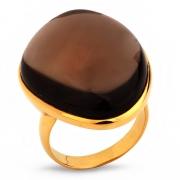 Серебряное кольцо Sandara c кварцем и позолотой