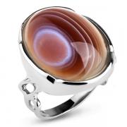 Серебряное кольцо Sandara c ботсванским агатом