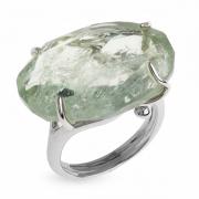 Серебряное кольцо Sandara c зеленым аметистом