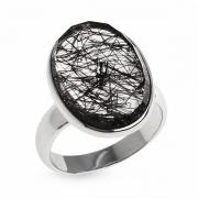Серебряное кольцо Sandara c турмалиновым кварцем