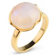 Серебряное кольцо Sandara с лунным камнем и позолотой