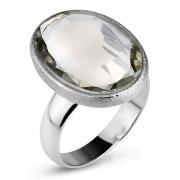 Серебряное кольцо Sandara с зеленым аметистом