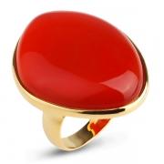 Серебряное кольцо Sandara с карнелианом и позолотой