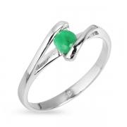 Серебряное кольцо Sandara с изумрудом