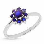 Серебряное кольцо Sandara с сапфирами