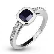 Серебряное кольцо Sandara с сапфиром, фианитами