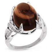Серебряное кольцо Sandara с дымчатым кварцем