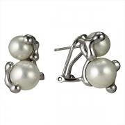 Серебряные серьги AS с жемчугом