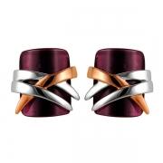 Серебряные серьги AS с аметистом