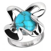Серебряное кольцо AS с бирюзой
