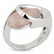 Серебряное кольцо AS c розовым кварцем