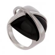 Серебряное кольцо AS с агатом и ониксом