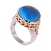 Серебряное кольцо AS с кварцем и фианитами
