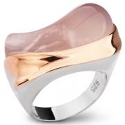 Серебряное кольцо AS с розовым кварцем