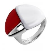 Серебряное кольцо AS с агатом и смолой