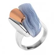Серебряное кольцо AS с голубым агатом